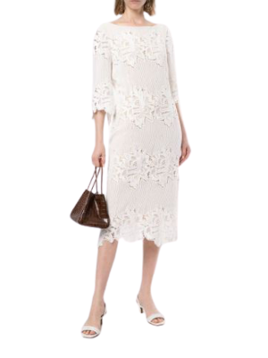 Buy: Sloane Midi Dress in White BNWT Size 8