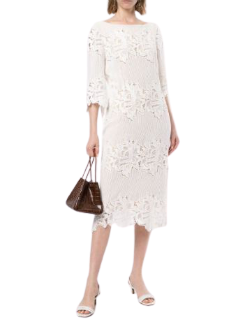 Buy: Sloane Midi Dress in White BNWT Size 8