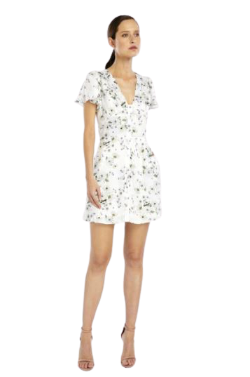 Buy: Frenchie Mini Dress in White Bouquet BNWT Size 10