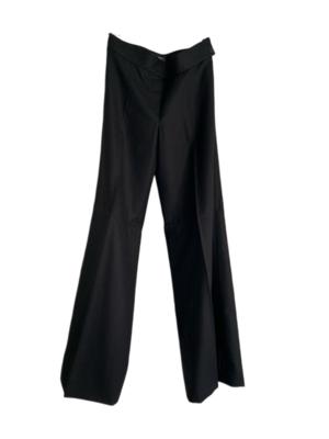 Buy: Black Straight Leg Wool Pants Size 10