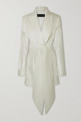 Buy: Marina belted metallic velvet blazer with belt