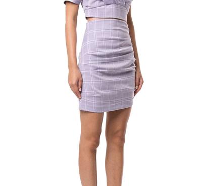 Buy: Lilac Check Mini Skirt BNWT 8