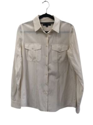 Buy: White Shirt with two front pockets Size 8