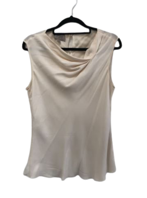 Buy: Silk white tank top with gathered detail Size 8-10