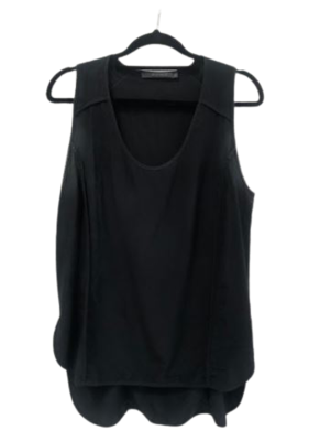 Buy: Black silk tank top Size 10
