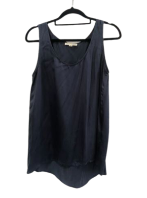 Buy: Navy blue silk tank top Size 6