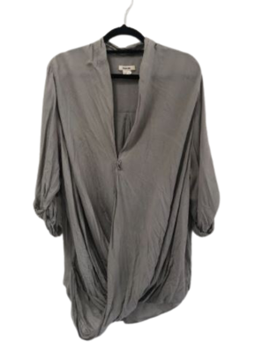 Buy: Grey cross over shirt with 3/4 sleeves Size 10