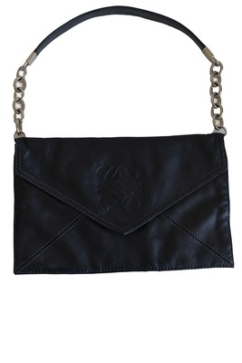 Buy: Black Leather Chain Purse