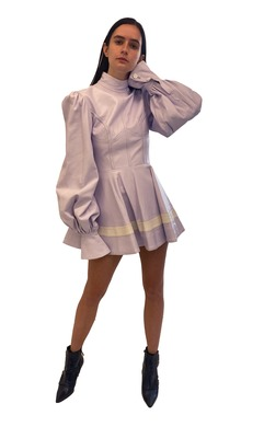 Buy: Faux Leather minidress in light purple Size 6