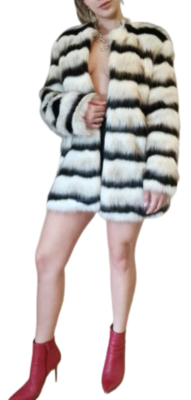 Rent: Faux Fur Oversized Coat Size 6-10