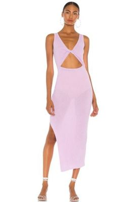 Rent: Riviera Midi Dress Lilac size 8