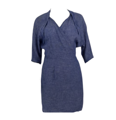 Rent: Blue Wrap Dress Size 12
