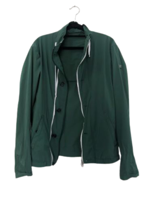 Buy: Green windbreaker with conversion into bag Size 10
