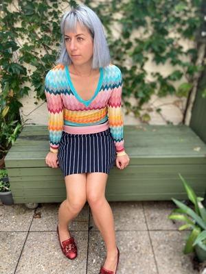 Buy: pinstripe mini pencil skirt Size 10