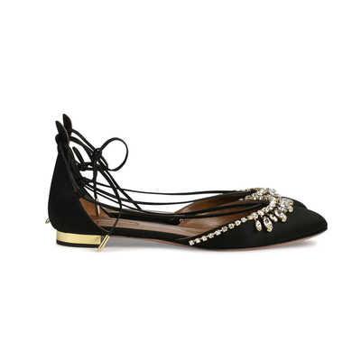 Buy: Alexa Jewel Lace Up Flats Size 5
