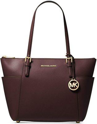 Buy: Jet Set Large Saffiano Leather Top-Zip Tote  handbag