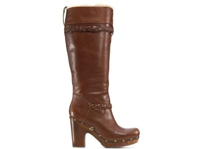 Buy: Women's Savanna Brown Leather Boots Size 8.5