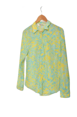 Buy: Aqua and yellow floral patterned top Size 8