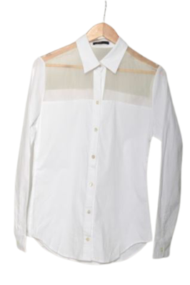 Buy: Sheer white button-up top Size 8