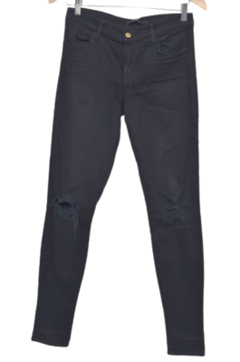 Buy: Super skinny black jeans with frayed knees Size 27