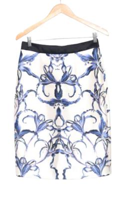 Buy:  Knee length iris motif skirt Size 6