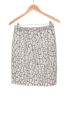 Buy: Grey + white floral motif skirt Size 10